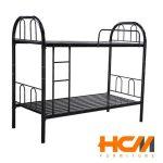 Giường sắt 2 tầng đen 0.8m x 2m