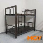 Giường sắt 2 tầng màu đen
