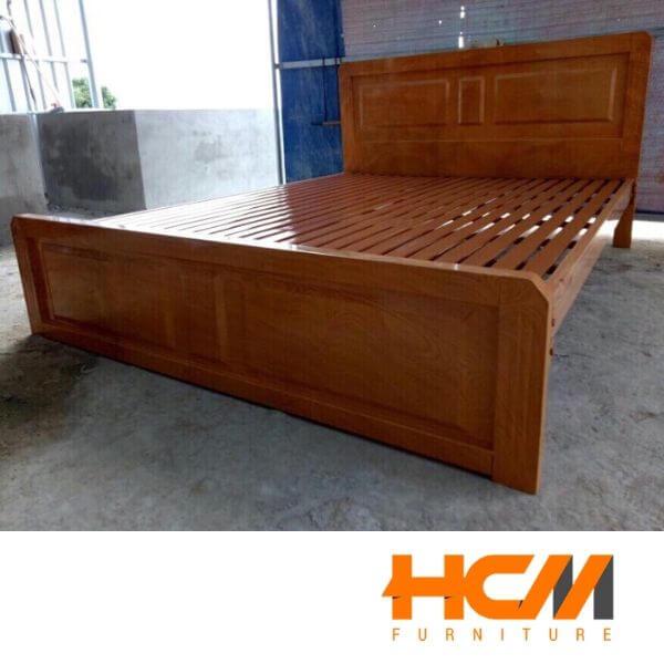 Giường sắt giả gỗ