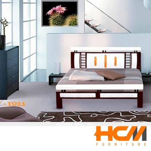 Giường sắt kiểu gỗ cổ điển 1m6 x 2m