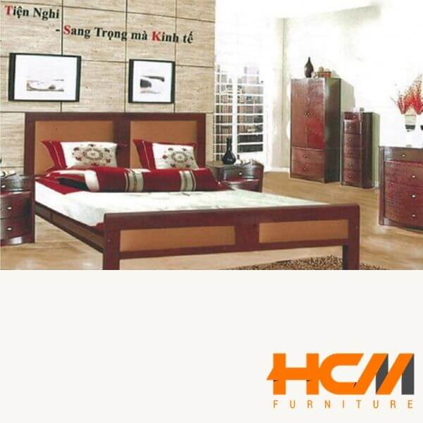 Giường sắt kiểu gỗ giá rẻ